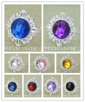 22 colori - 100pcs / lot bella gemma acrilica argento placcato tovagliolo anelli wedding party table decor portatovagliolo tovagliolo anello di stoffa