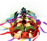 Mezza maschera veneziana principe principessa maschera mascherata maschera di palla di Halloween glittear Mardi Gras One Size Fit più (colori assortiti)