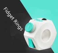 Fidget Cube upgrade decompression magic ring dice toys decom...