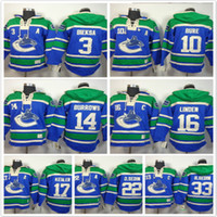 밴쿠버 Canucks 후드 3 Kevin Bieksa 10 Pavel Bure 16 Trevor Linden 14 Alex Burrows 17 22 33 아이스 하키 후디 스웨터 블루