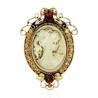 broche de camafeu broches vintage jóias bonito pin e broches para as mulheres cachecol rhinestone broche no colarinho