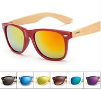 Nova Marca Designer Bambu Sunglasses Madeira para mulheres Homens Óculos Gafas Oculos Oculos de Sol Madeira 1501