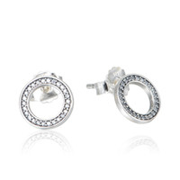 Forever silver earrings S925 Sterling silver fits pandora je...