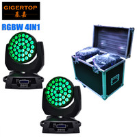 Freeshipping 2XLot 36pcs 10W RGBW miscelazione colore 4in1 Zoom Led moving head light Club DJ Party Stage Lights con il cavo DMX TP-L620A