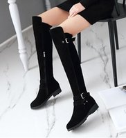 Wholesale New Arrival Hot Sale Specials Super Fashion Influx Martin Roman Suede Stovepipe Autumn Square Large Size Knight Boots EU34-50