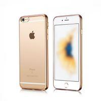 Clear Crystal ultradünne weiche TPU Galvanotechnik Fall-Abdeckung für iPhone X 10 8 7 6 6S Plus-Galaxy S8 Plus-Note 8 A3 A5 A7 2017 Plating Fall