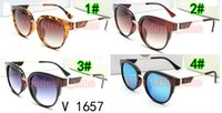hot summer new men fashion classics circle frame glasses bea...
