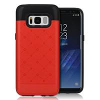 Cartão de Crédito 5S Carteira de luxo capa para iPhone 7 Plus 6s Slot de design suave de borracha TPU Silicon + dura do PC Back Cover Para Samsung Galaxy S8 Além disso,