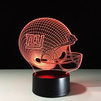 NY Giants 3D LED Night Light Touch Switch Table Lamp USB 7 C...
