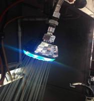 LED colorido, auto cor, redondo, com padrões, luzes coloridas, pulverizador pequeno top RC-9814B