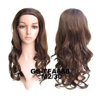 Hot Style Negro Femmes 4 couleur 3/4 Cheveux Pad Long Corps Ondulés Demi Perruque cabelo perruque mega cheveux peruca peluca Drop Shipping