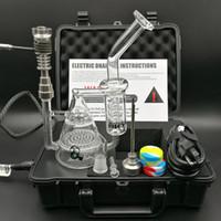 Il più nuovo kit elettrico del chiodo a D Il riscaldatore del chiodo digitale Il contenitore del regolatore di temperatura elettronico a spirale con il tubo d'acqua a nido d'ape Dab Rig Bong DHL