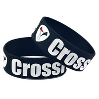 1pc crossfit Grenoble Silicone Wristband En tum breda mjuka och flexibla gummi smycken för sportgåva