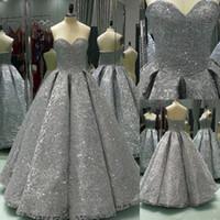 Uzun Balo Parlak Kış Örgün Gümüş Pullu Balo Elbise Kat Uzunluk Bling Bling Abiye giyim Uzun Parti Elbise