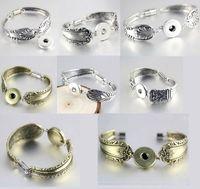Mix ассорти женский имбирь 18 мм Оснастки кнопка кусок подвески античный посеребренные старинные цепи Магнит пряжки браслеты браслеты