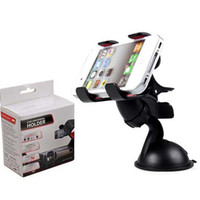 30 STÜCKE Universal 360 ° in Auto Windschutzscheibe Armaturenbrett Halter Halterung Ständer Für iPhone Samsung GPS PDA Handy Schwarz