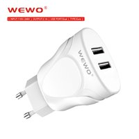 Metal Dual USB Wall Charger Adapter with Cables EU Plug Port...