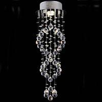 Lámparas modernas lámparas de araña de cristal sopladas lámparas iluminación Lámparas de araña de cristal en espiral Luces de escalera para escalera