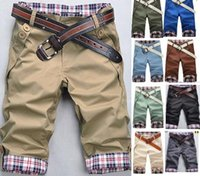 Wholesale-Free Shipping Mens slim Leisure Short Pants,Men Casual Pants capris,shorts men,10color,Size:M-XXXL,100%guarantee,dropshipping P1