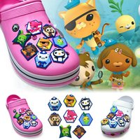 8Pcs Lot Octonauts PVC Cartoon Shoe Charms Ornaments Buckles...
