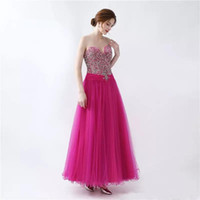 Fascinating A Line Sweetheart Tulle Dress 2017 2017 Bordare Crystal Lace Up prom Party Gown Usura formale Custom Made