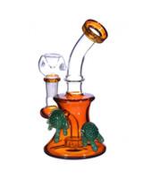 Kleine Bongs Mini Dab Rigs für billige bunte Glas Wasserpfeifen 7 Zoll und 14mm Joint