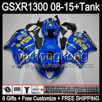 RIZLA azul 8gifts para SUZUKI Hayabusa GSXR1300 08 15 GSXR-1300 14MY22 GSXR 1300 GSX R1300 08 09 10 11 12 13 14 15 TOP RIZLA azul carenado Kit