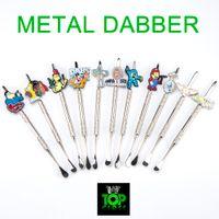 금속 파이프 dabber 만화 금속 Dabber 유리 bongs 도구, 물 파이프, dab 석유 굴착 유리 활에 대 한 흡연 액세서리