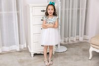 Baby Clothes Flower Girls Dresses Cotton Summer Short Sleeve...