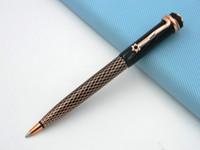 블랙과 황금 별 새로운 다이아몬드 패턴 Lacquerred 금속 볼펜 장미