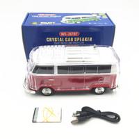 휴대용 스피커 버스 블루투스 스피커 LED 라이트 USB 휴대용 미니 버스 스피커 자동차 플레이어 무선 블루투스 스피커