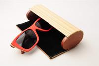 LONSY 10pcs / lot 무료 배송 Fashion100 % 천연 수제 대나무 선글라스 케이스 우드 태양 안경 상자 안경 케이스 (전용 케이스)
