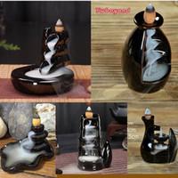 Keramik Räuchergefäßhalter Buddhistische Aromatherapie Rauch Rückfluss Räucherstäbchen Räuchergefäß Islamische Arabische Räucherstäbchenhalter