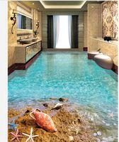popolare spiaggia stelle marine shell spiaggia dell'oceano bagno carta da parati 3d piano per le pareti 3 d per soggiorno