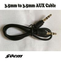 3.5mm 50CM ذكر لذكر الصوت Aux التوصيل 3-Ring البسيطة AV كبل 300pcs / lot