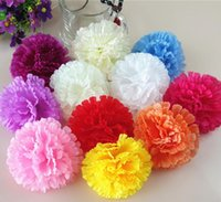 9cm 500pcs 9 colors available Artificial Silk Carnation Flow...