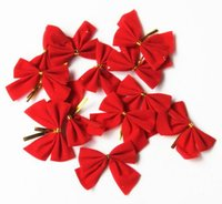 Fashion Hot 12Pcs set Christmas Tree Bow Decoration Baubles ...