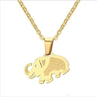 Gold Plated Elephant Pendants Necklace Simple Design Cute An...