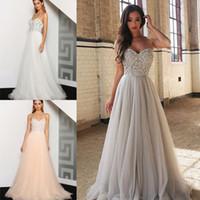 Lungo elegante Una linea di Tulle Prom Dresses sexy senza spalline in rilievo Sweetheart abiti di sera convenzionali Piano Lunghezza Celebrity Dress