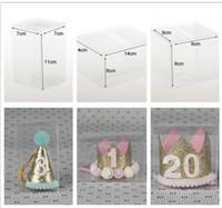 Customzied ПВХ Коробка для Ребенка Tiara Повязки Прозрачная пластиковая коробка для Всех видов Детские Аксессуары Для Волос 7 * 7 * 11 9 * 9 * 8 14 * 14 * 8 см KHA415