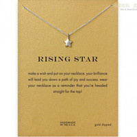 With card! Silver and gold color cute Dogeared Necklace with...