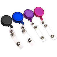 Retractable Badge Holder ID Badge Reel Clip On Card Holders ...