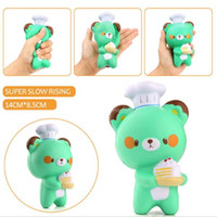 nuevo Lindo Chef Oso Suave Cartoon Doll Squeeze Squishy Slow Rising Paquete Regalo Niños Juguete al por mayor