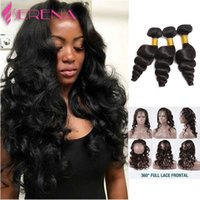 360 Lace Frontal Closure With Bundles Loose Wave Peruvian Vi...