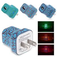Éclairage LED Crack Style Voyage Maison Chargeur Murale 5 V 1A Adaptateur US EU Prise Simple USB De Charge Rapide Universel Pour iphone HTC Samsung