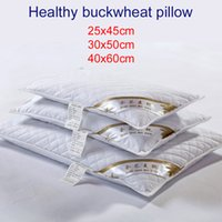 wholesale 100 buckwheat pillow filling kids children aadults pillows neck health high quality home textile cotton surface two zipper