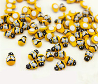 100PC- PACK Wood Yellow Bee Insect Mini Craft Miniature Fairy...