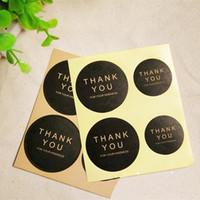 간단한 검은 색 라운드 감사 스티커 장식 씰링 삐 스터 편지 스티커 장식 용품