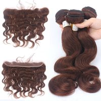 Brown Color 13x2 Ear to Ear Lace Frontal Closure With Bundle...