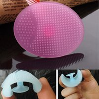 Wholesale-1Pc Beauty Tool  Face Cleanser Cleaning Pad Wash Exfoliating Face Brush Skin Blackhead Cleanser